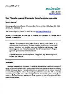New Phenylpropanoid Glucosides from Eucalyptus maculata