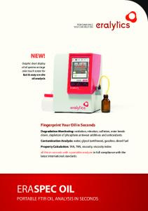 NEW! PORTABLE FTIR OIL ANALYSIS in seconds. Fingerprint Your Oil in Seconds