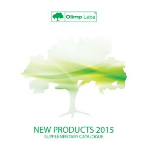 NEW PRODUCTS 2015 SUPPLEMENTARY CATALOGUE