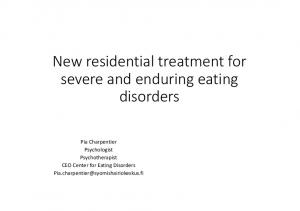 New residential treatment for severe and enduring eating disorders
