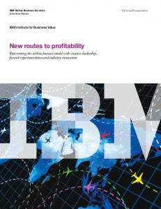New routes to profitability