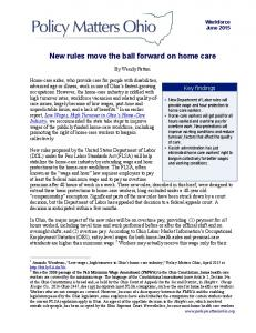 New rules move the ball forward on home care