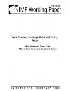 New Shocks, Exchange Rates and Equity Prices