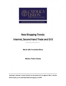 New Shopping Trends: Internet, Second-hand Trade and OLX