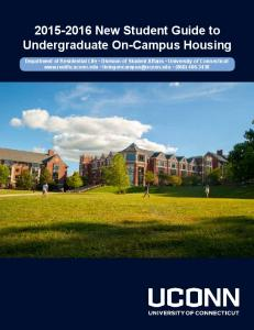 New Student Guide to Undergraduate On-Campus Housing