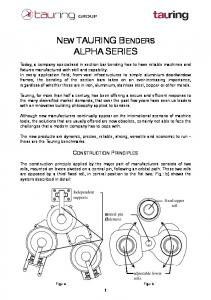 NEW TAURING BENDERS ALPHA SERIES