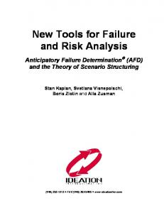 New Tools for Failure and Risk Analysis