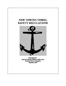 NEW TOWING VESSEL SAFETY REGULATIONS