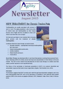 NEW TREATMENT for Chronic Tendon Pain