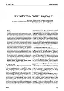 New Treatments for Psoriasis: Biologic Agents