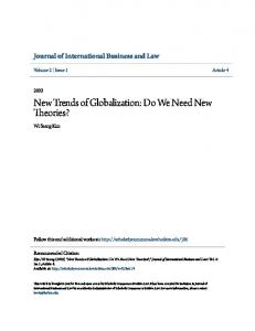 New Trends of Globalization: Do We Need New Theories?