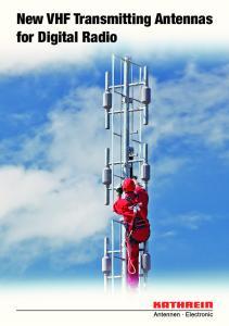 New VHF Transmitting Antennas for Digital Radio