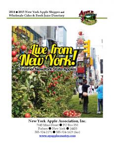 New York Apple Association, Inc Main Street PO Box 350 Fishers New York (fax)