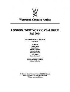 NEW YORK CATALOGUE Fall 2014