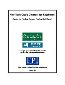 New York City s Contract for Excellence: