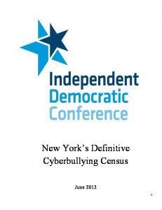New York s Definitive Cyberbullying Census
