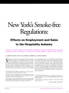 New York s Smoke-free Regulations: