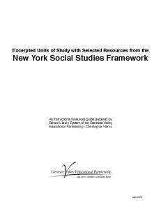 New York Social Studies Framework!