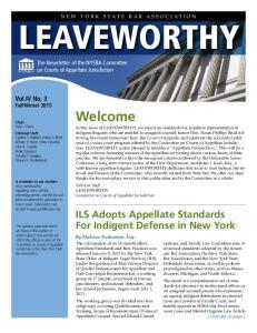NEW YORK STATE BAR ASSOCIATION LEAVEWORTHY