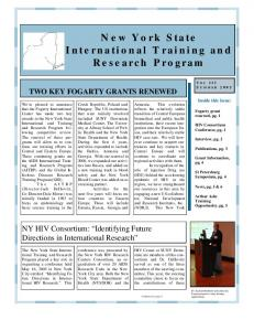 New York State International Training and Research Program