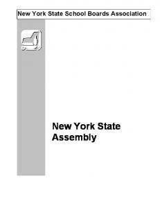 New York State School Boards Association. New York State Assembly