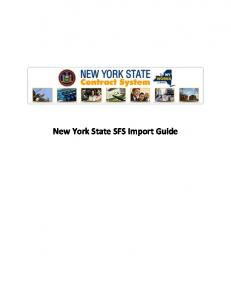 New York State SFS Import Guide