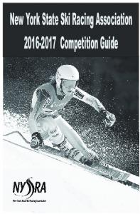 New York State Ski Racing Association Competition Guide