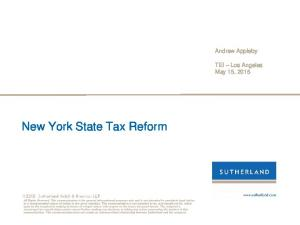 New York State Tax Reform