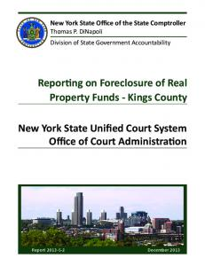 New York State Unified Court System Office of Court Administration