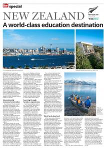 NEW ZEALAND. A world-class education destination