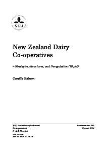 New Zealand Dairy Co-operatives