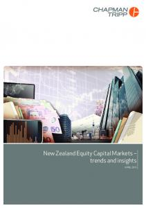 New Zealand Equity Capital Markets trends and insights