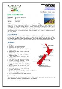 New Zealand Guided Tours. Spirit of New Zealand