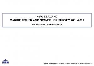 NEW ZEALAND MARINE FISHER AND NON-FISHER SURVEY