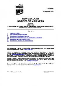 NEW ZEALAND NOTICES TO MARINERS