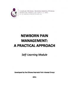NEWBORN PAIN MANAGEMENT: A PRACTICAL APPROACH