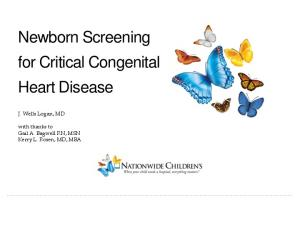 Newborn Screening for Critical Congenital Heart Disease