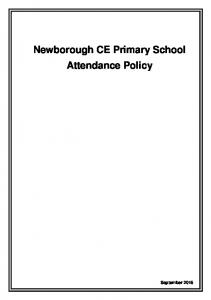 Newborough CE Primary School Attendance Policy