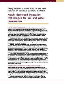 Newly developed innovative technologies for soil and water conservation
