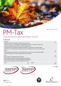 News and Views from the Pinsent Masons Tax team
