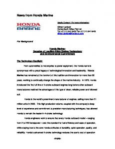 News from Honda Marine