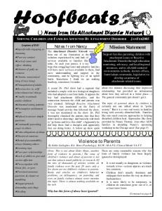 News from the Attachment Disorder Network