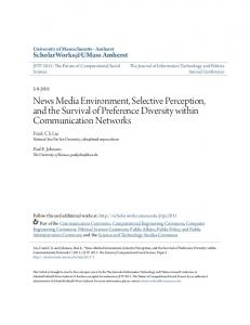 News Media Environment, Selective Perception, and the Survival of Preference Diversity within Communication Networks
