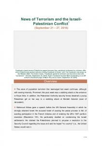 News of Terrorism and the Israeli- Palestinian Conflict 1
