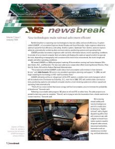 newsbreak Volume 2, Issue 1 January 2006