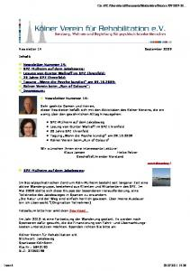Newsletter 14 September 2009