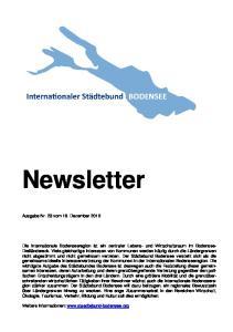 Newsletter. Ausgabe Nr. 23 vom 16. Dezember 2010