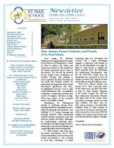 Newsletter December 2013 Volume 7, Issue 1