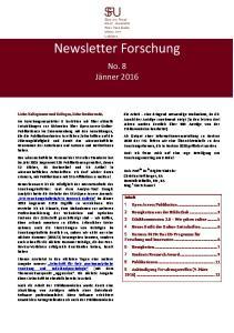 Newsletter Forschung