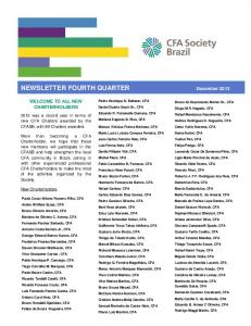 NEWSLETTER FOURTH QUARTER December 2013